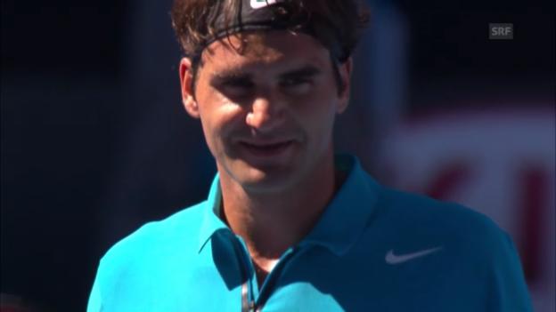 Video «Highlights Federer - Paire («sportlive»)» abspielen