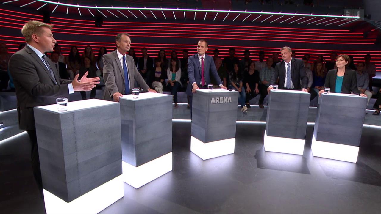 «Arena» zu Wahlen 15: Parteipräsidenten kämpfen um ihre Stimmen
