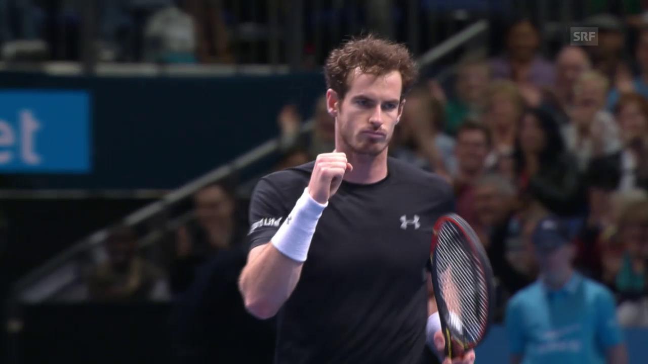 Tennis: ATP Finals, Zusammenfassung Murray - Ferrer