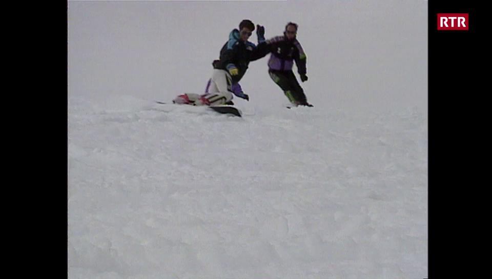 Ils dus frars Mosca avant co els èn vegnids campiuns mundials da snowboard alpin