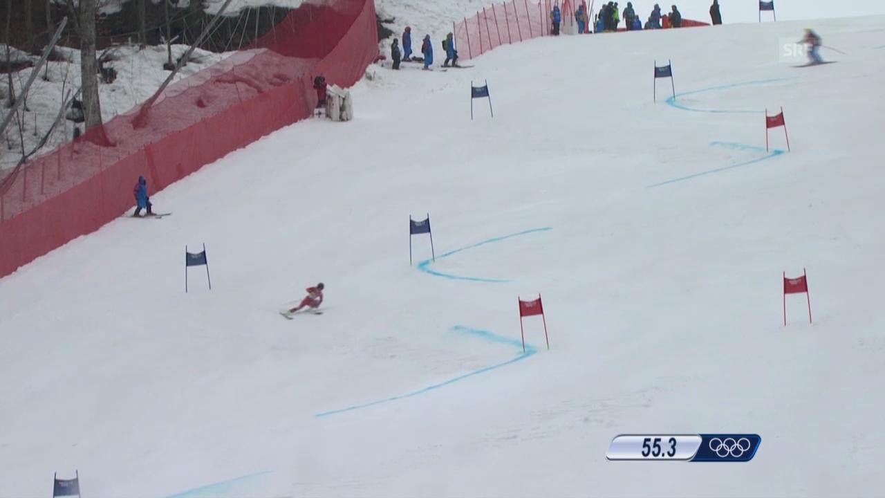 Ski: Riesenslalom Frauen, 1. Lauf Holdener (sotschi direkt, 18.2.2014)