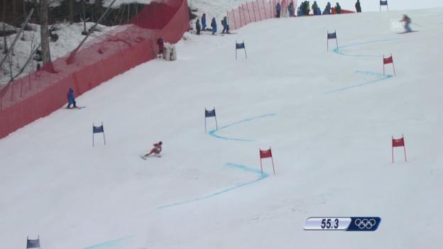 Video «Ski: Riesenslalom Frauen, 1. Lauf Holdener (sotschi direkt, 18.2.2014)» abspielen