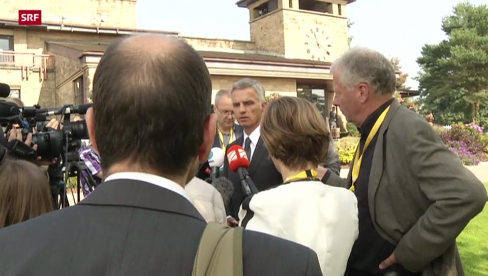 Didier Burkhalter will am Dialog mit Moskau festhalten