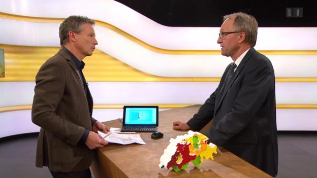 Video «Studiogespräch mit Peter Hegglin, Ständerat CVP/ZG» abspielen