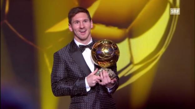 Video «Messi gewinnt den Ballon d'Or («sportlounge», 07.01.2013)» abspielen