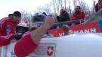 Video «Weltcup Lake Placid: Heftis 2. Lauf» abspielen