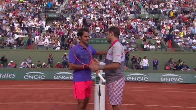 Video «Tennis: French Open, Wawrinka - Federer, Highlights» abspielen