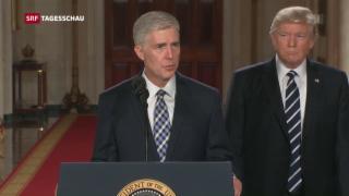 Video «Hardliner für den Supreme Court nominiert» abspielen