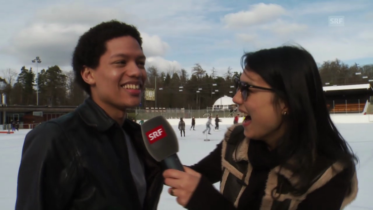 Eisprinz Brendon: Von Fans belagert