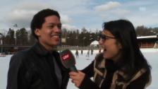Video «Eisprinz Brendon: Von Fans belagert» abspielen