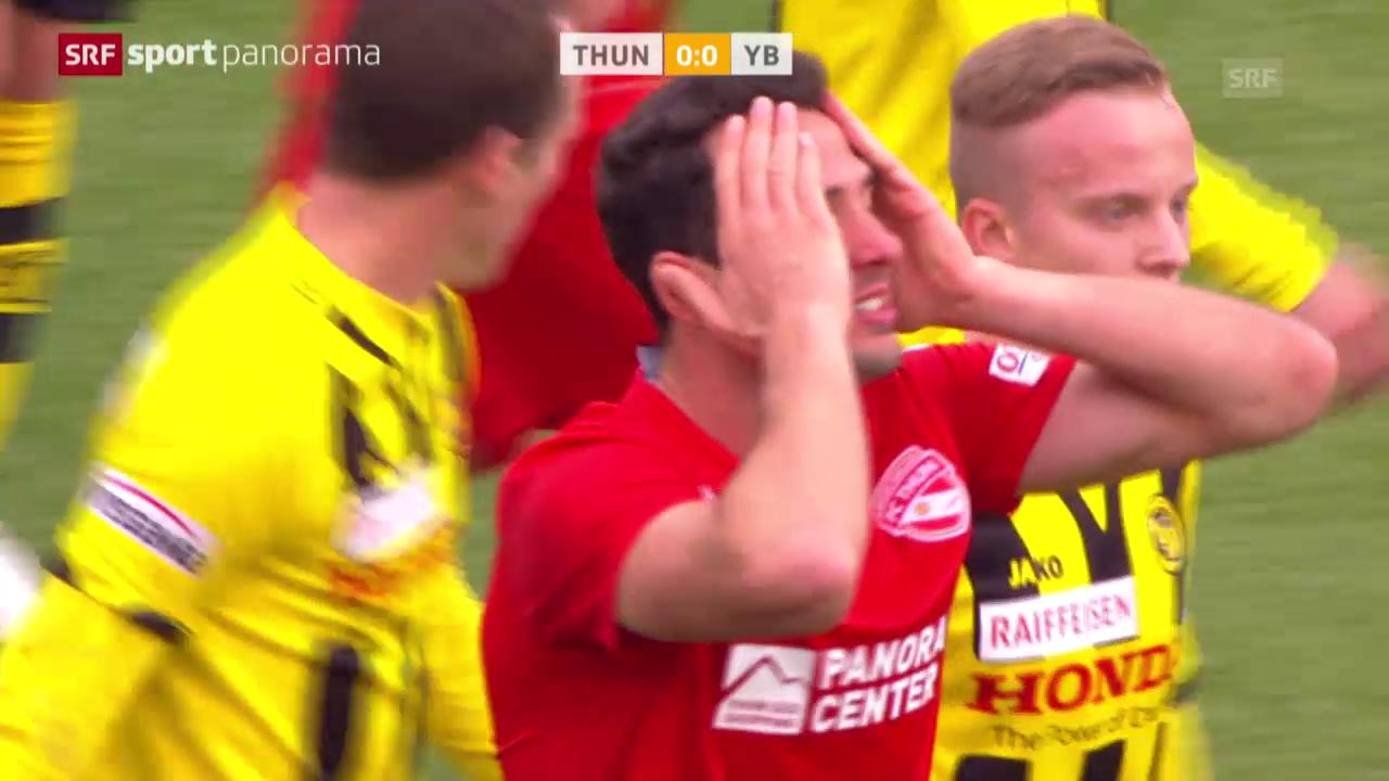 Fussball: Thun-YB, Chancen Sadik