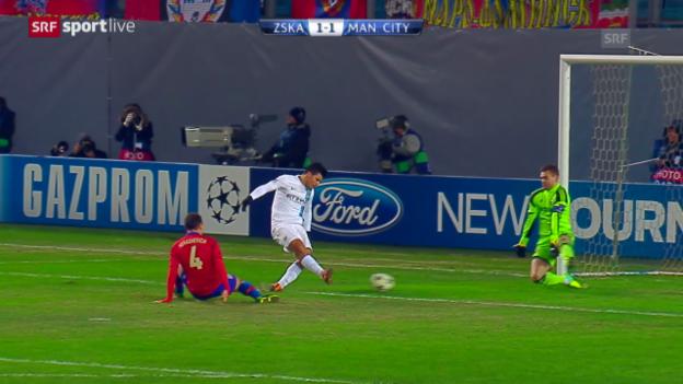 Video «CL: ZSKA Moskau - Manchester City» abspielen