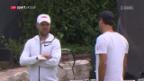 Video «Federer ist heiss auf den Rasen-Auftakt» abspielen