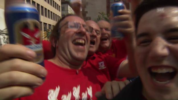 Video «Grossartige Stimmung in Basel vor dem EL-Final» abspielen