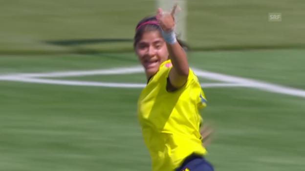 Video «Fussball: Frauen-WM 2015 in Kanada, 2. Gruppenspiel, Kolumbien - Frankreich» abspielen