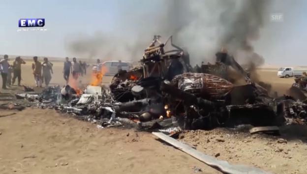 Video «Wrack des russischen Helikopters» abspielen