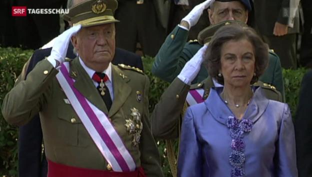 Video «Juan Carlos nimmt Abschied von Armee» abspielen