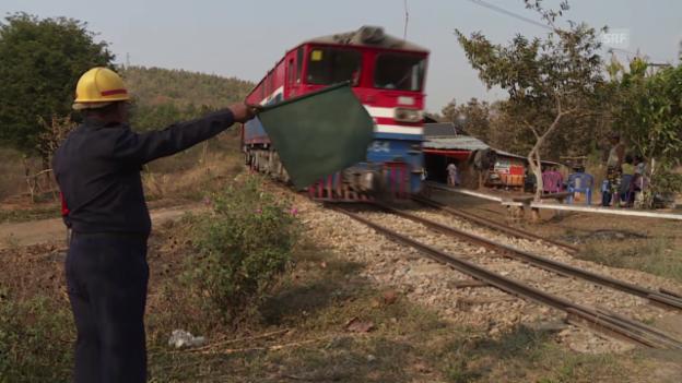 Video «Bahnwärter wirft sich in Schale» abspielen
