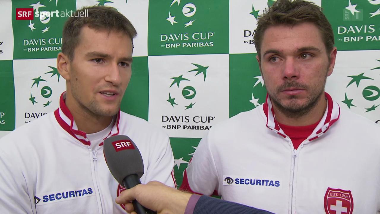 Tennis: Davis Cup, Chiudinelli/Wawrinka im Interview