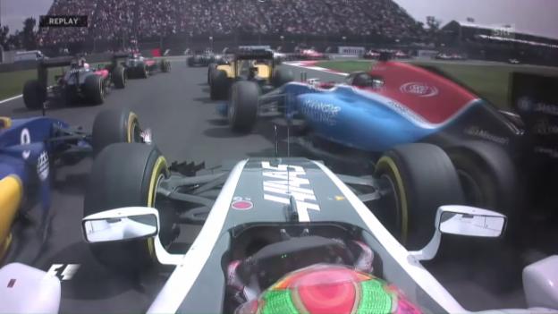 Video «Gutierrez sorgt für Kollision zwischen Wehrlein und Ericsson» abspielen