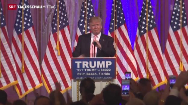 Video «Trump und Clinton erfolgreich» abspielen