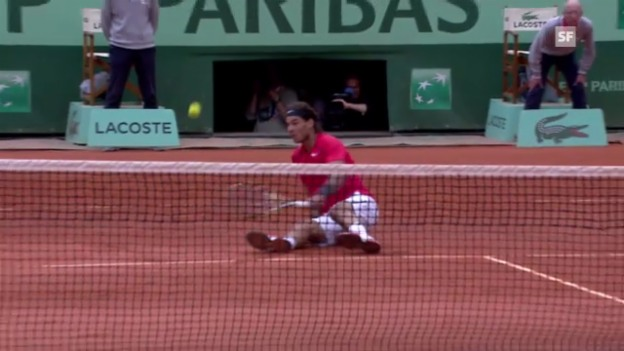 Video «French Open: Rafael Nadal - David Ferrer» abspielen