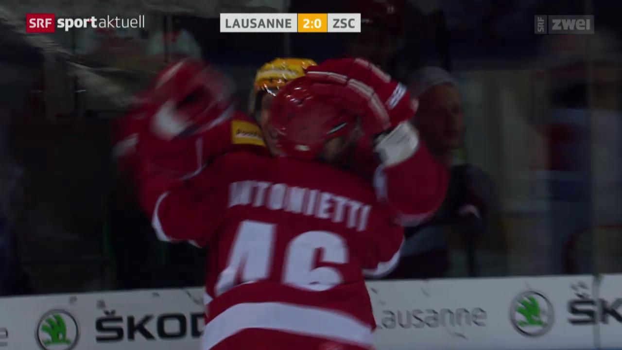 Eishockey: Playoff-Viertelfinal, Lausanne - ZSC
