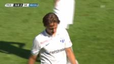 Video «Fussball: Die Auswechslung von Cedric Brunner im Zürcher Derby («sportlive»)» abspielen