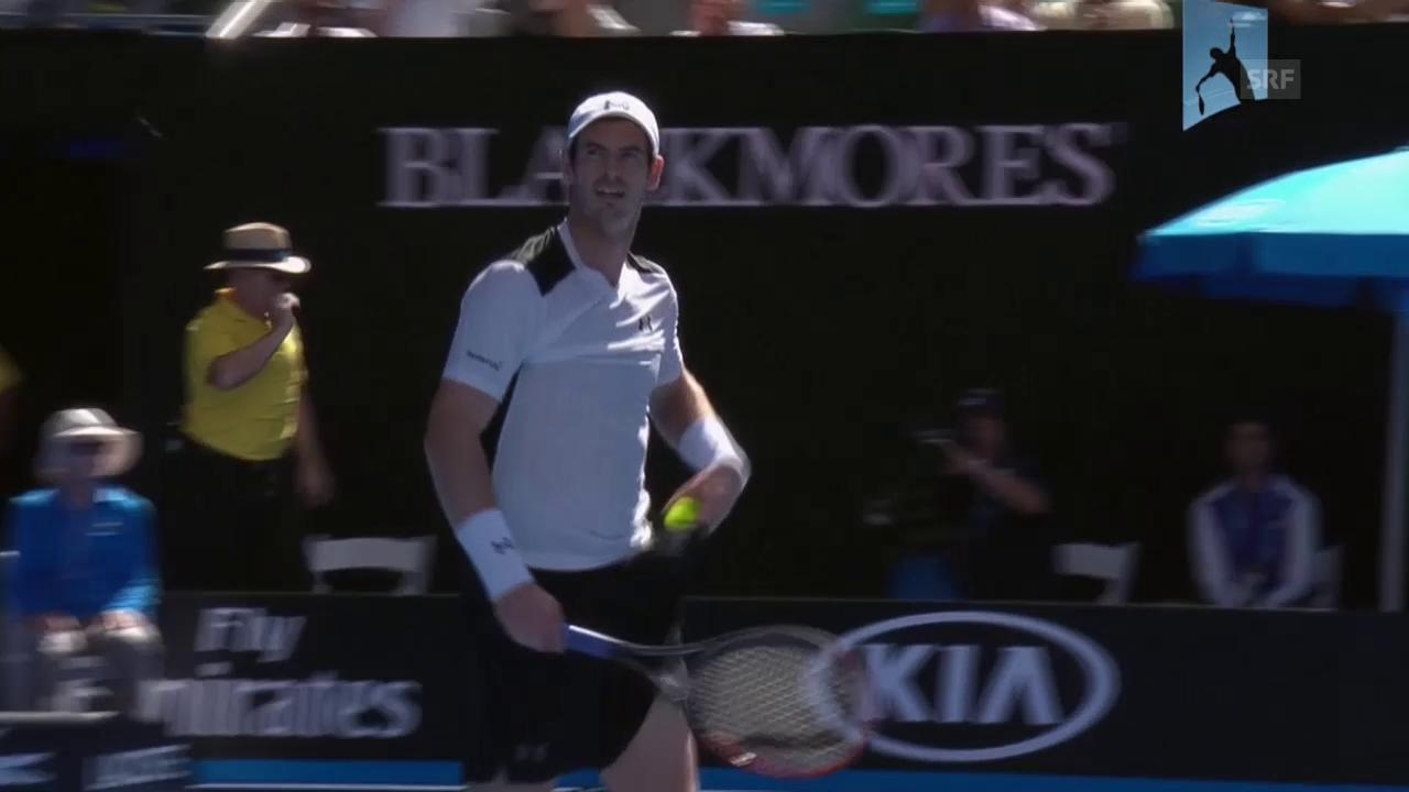 Die entscheidenden Punkte im Match Murray gegen Groth