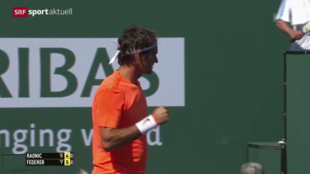 Video «Tennis: ATP 1000 Indian Wells, Halbfinal Federer - Raonic («sportaktuell»)» abspielen