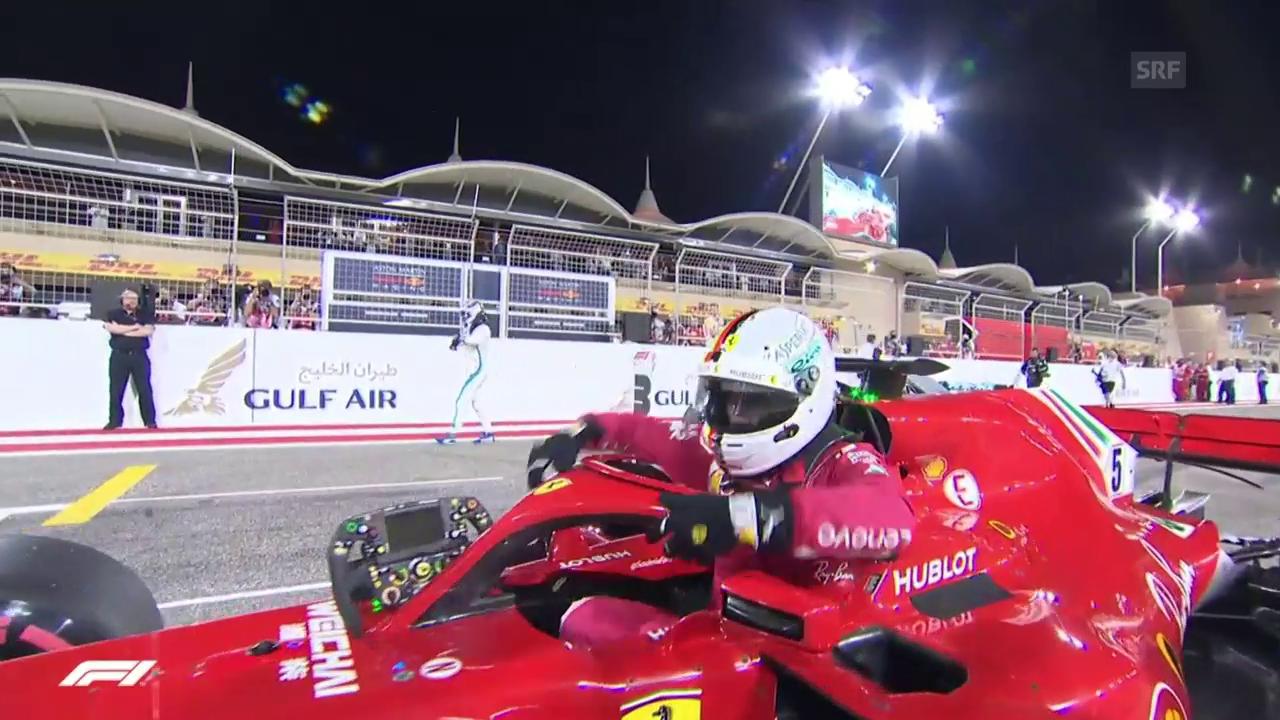 Vettel schnappt sich Pole