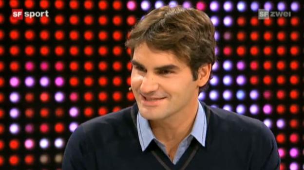 Video «Studiogast Roger Federer, Teil 1» abspielen