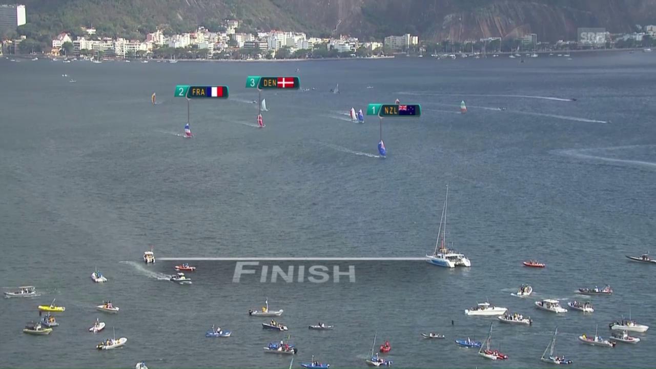 Burling und Tuke gewinnen auch die Medal-Race-Regatta