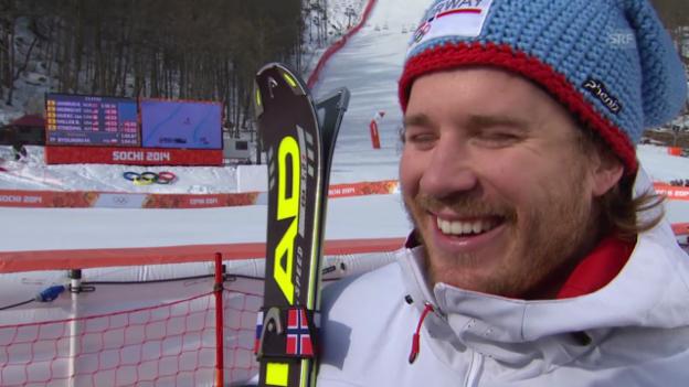 Video «Ski, Super-G, Interview mit Kjetil Jansrud (sotschi direkt, 16.02.14)» abspielen