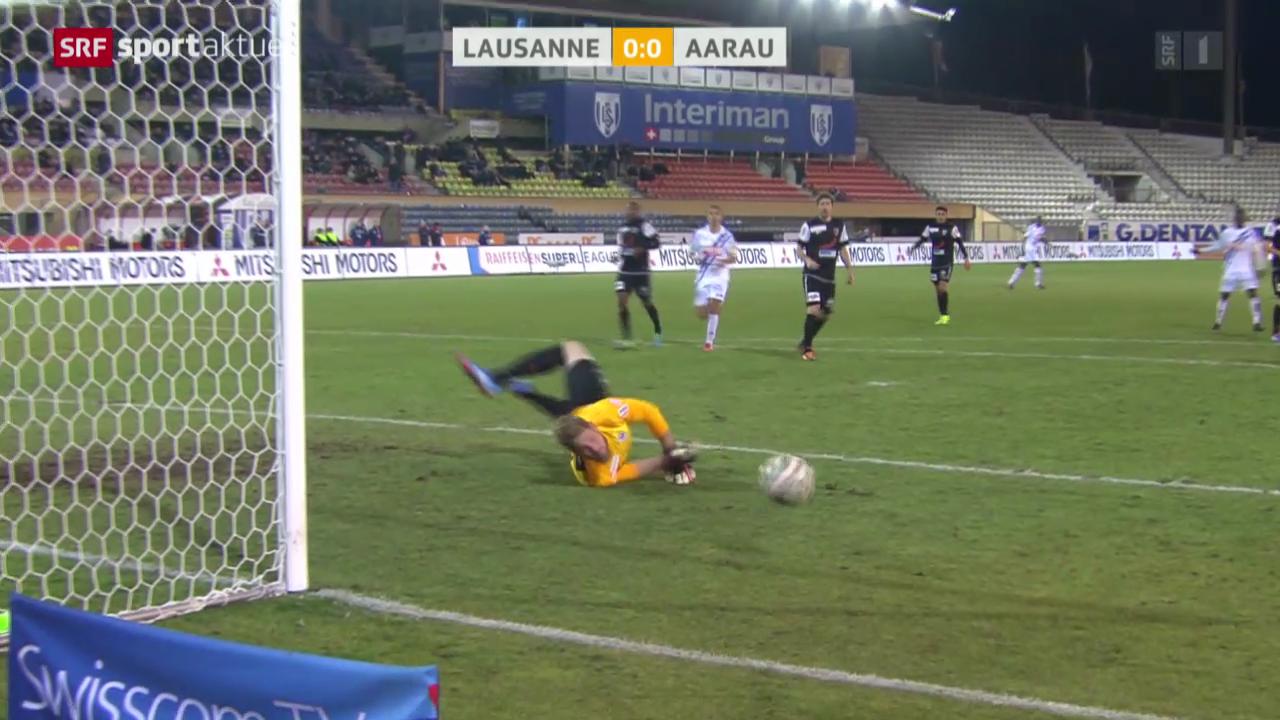 Fussball: Lausanne - Aarau