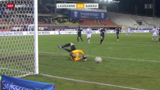 Video «Fussball: Lausanne - Aarau» abspielen