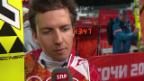 Video «Skispringen: Qualifikation Grossschanze, Interview mit Simon Ammann (sotschi direkt, 14.02.2014)» abspielen