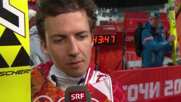 Video «Skispringen: Qualifikation Grossschanze, Interview mit Simon Ammann (sotschi direkt, 14.02.2014)» abspielen