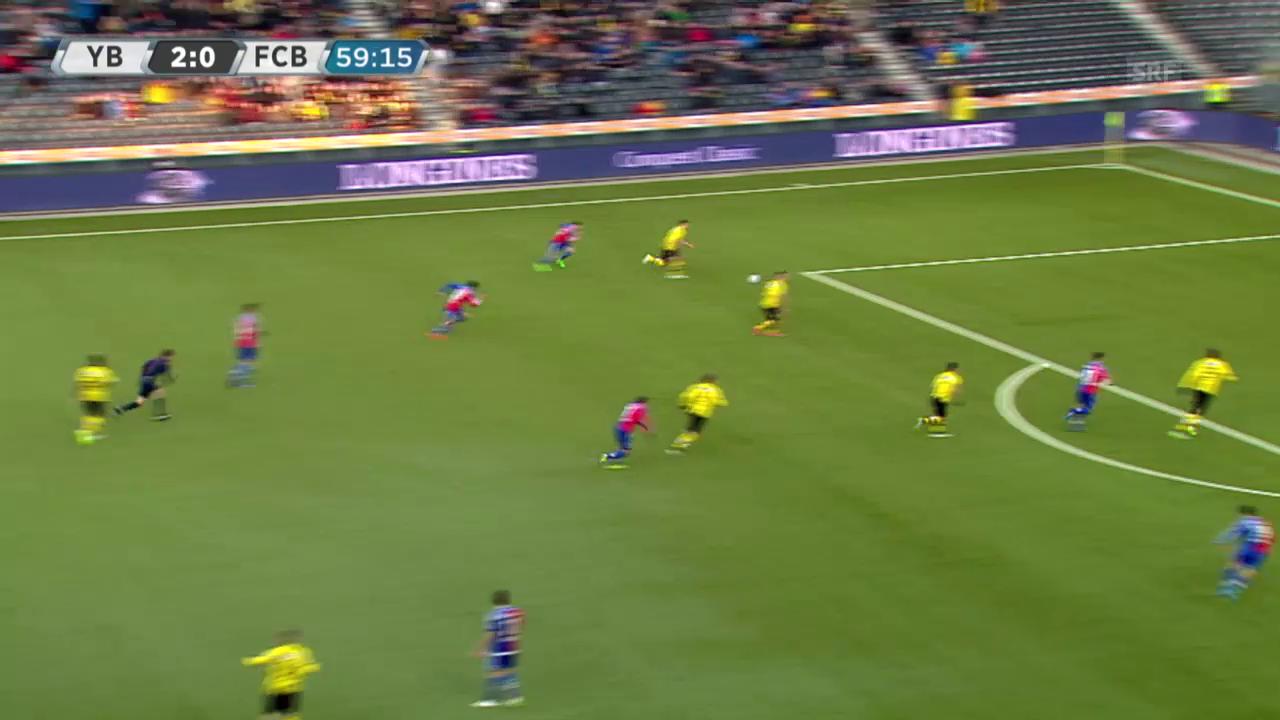 Fussball: Super League, YB - Basel, Tor von Gajic zum 3:0