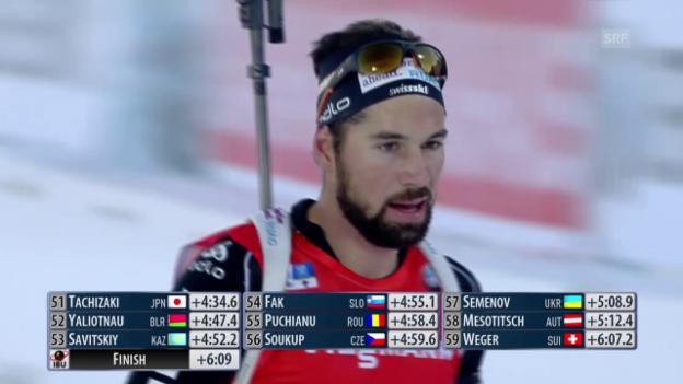 Video «Biathlon: Verfolgung Männer in Östersund» abspielen
