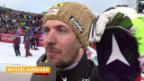 Video «Marcel Hirscher zeigt sich im Interview als fairer Verlierer» abspielen