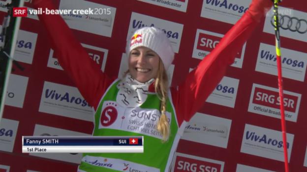 Video «Skicross: Smith gewinnt in Arosa» abspielen