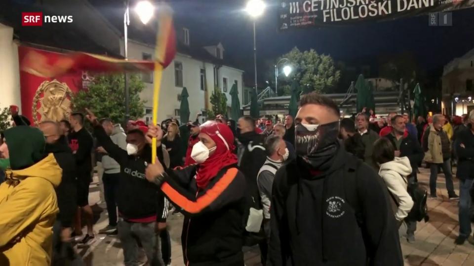 Proteste gegen den neuen Bischof in Montenegro