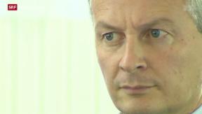 Video «Bruno Le Maire kandidiert als UMP-Parteipräsident » abspielen