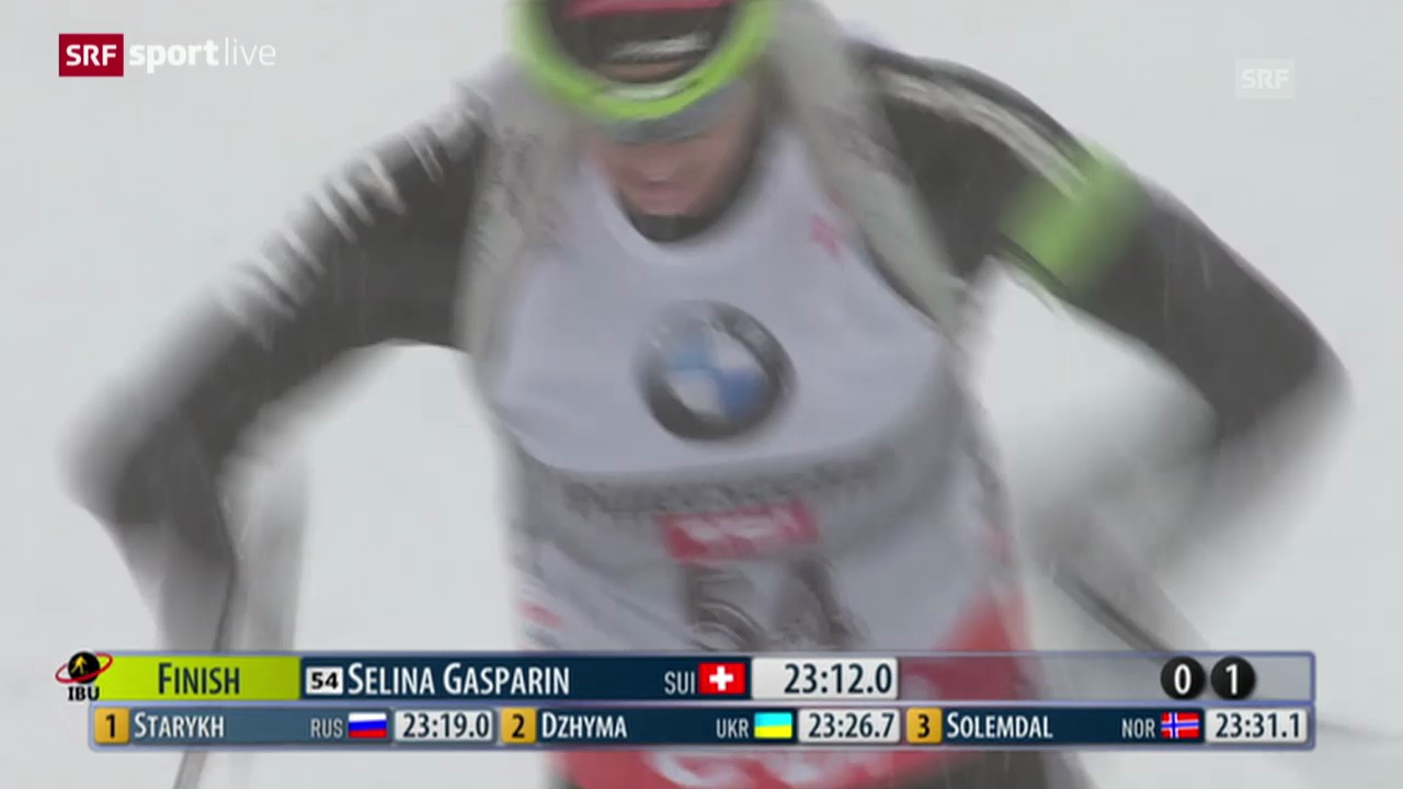 Biathlon: Selina Gasparin gewinnt sensationell in Hochfilzen