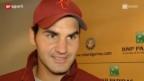 Video «French Open: Federer gegen Lopez («sportlounge»)» abspielen