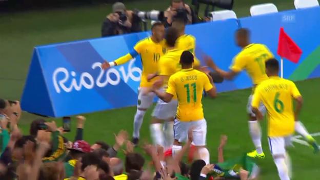 Video «Vor dem Halbfinal: Neymar und Co. unter Druck» abspielen
