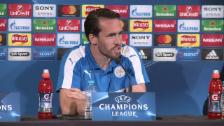 Video «Shakespeare und Fuchs vor dem Spiel gegen Atletico (engl., SNTV)» abspielen