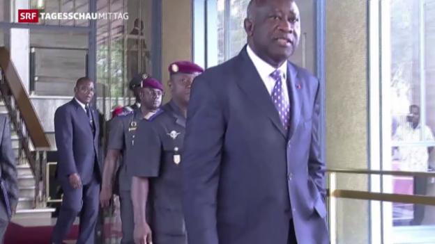 Video «Prozessbeginn gegen Ivorer Laurent Gbagbo» abspielen