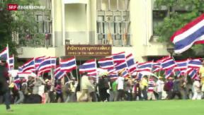 Video «Die Proteste in Thailand reissen nicht ab» abspielen
